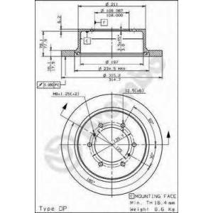 BREMBO 08.7106.10 Тормозной диск Brembo
