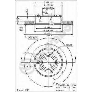 BREMBO 08.7132.10 Тормозной диск Brembo