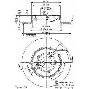 BREMBO 08.7211.21 Тормозной диск
