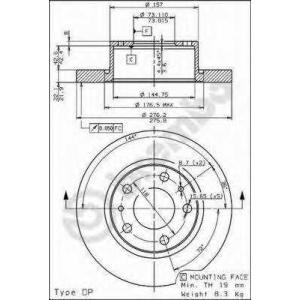 BREMBO 08.7219.10 Тормозной диск Brembo