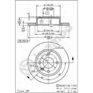 BREMBO 08723710 Тормозной диск