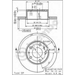 BREMBO 08730010 Тормозной диск