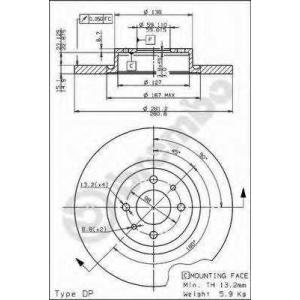 BREMBO 08735420 Тормозной диск