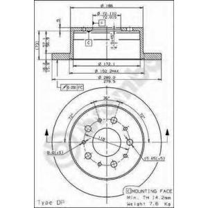 BREMBO 08.8094.30 Тормозной диск Brembo