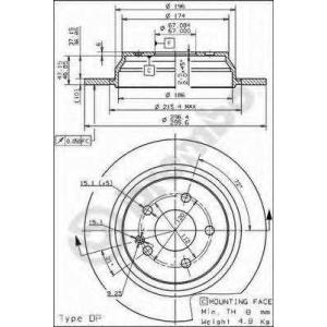 BREMBO 08.8405.10 Тормозной диск Brembo