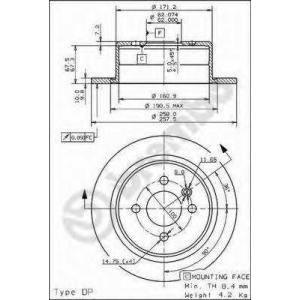 BREMBO 08.9504.10 Тормозной диск Бмв 3
