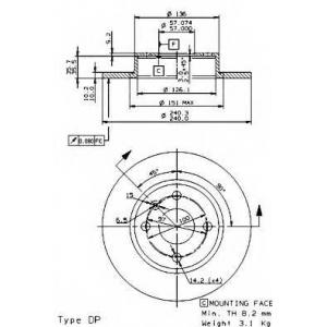 BREMBO 08973910 Тормозной диск