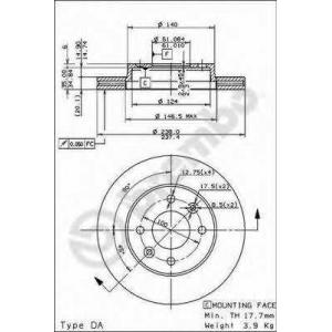 BREMBO 09.3148.14 Тормозной диск вентилируемый