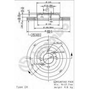 BREMBO 09314914 Тормозной диск