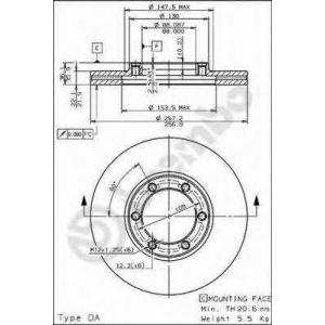 BREMBO 09557710 Тормозной диск