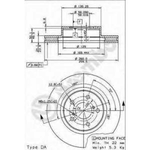 BREMBO 09.5673.14 Тормозной диск вентилируемый