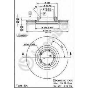 BREMBO 09696714 Тормозной диск