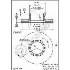 BREMBO 09699810 Тормозной диск