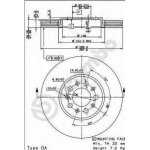 BREMBO 09.7010.20 Тормозной диск Brembo