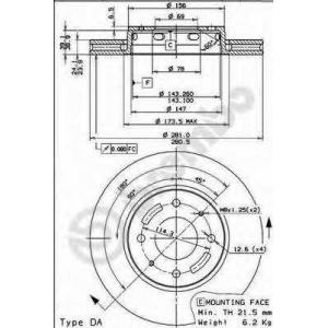 BREMBO 09.7720.10 Тормозной диск Brembo