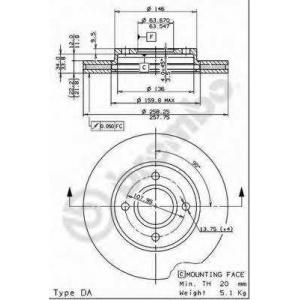 BREMBO 09.7806.14 Тормозной диск Brembo