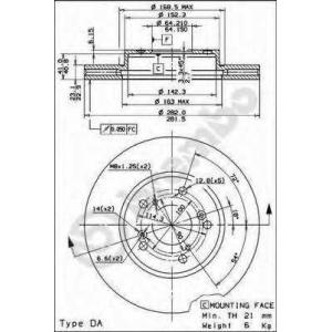 BREMBO 09793211 Тормозной диск