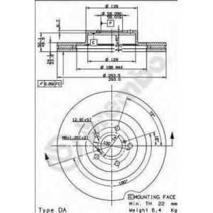 BREMBO 09.9077.10 Тормозной диск Brembo