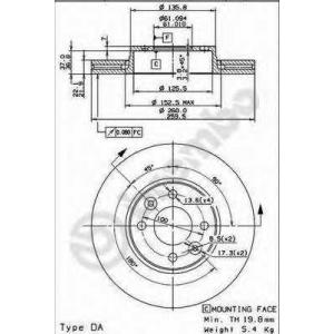 BREMBO 09.9078.10 Тормозной диск Brembo