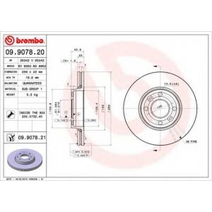 BREMBO 09.9078.20 Тормозной диск Brembo