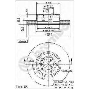 BREMBO 09.9172.11 Тормозной диск Brembo