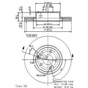 BREMBO 09.9481.10 Тормозной диск Brembo