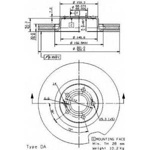 BREMBO 09.9534.14 Тормозной диск Brembo