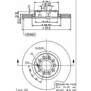 BREMBO 09.9772.10 Тормозной диск Brembo