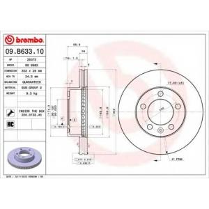 BREMBO 09.B633.10 Тормозной диск Brembo