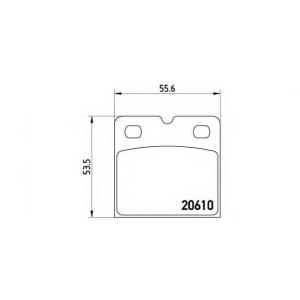 BREMBO P 02 001 Комплект тормозных колодок, дисковый тормоз