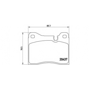 BREMBO P 06 003 Комплект тормозных колодок, дисковый тормоз Бмв 5