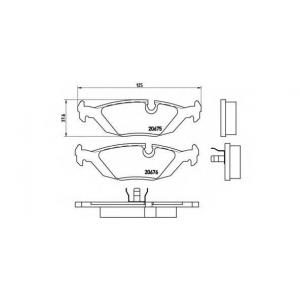 BREMBO P 06 009 Комплект тормозных колодок, дисковый тормоз Бмв 5
