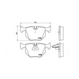 BREMBO P 06 020 Комплект тормозных колодок, дисковый тормоз Бмв З8