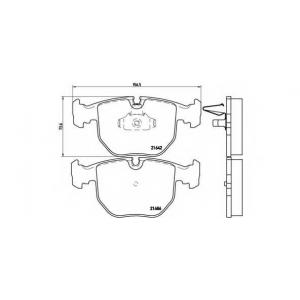 Комплект тормозных колодок, дисковый тормоз p06021 brembo - BMW 7 (E38) седан 740 i,iL