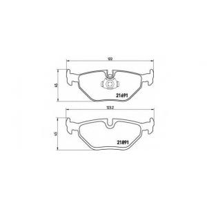 Комплект тормозных колодок, дисковый тормоз p06023 brembo - BMW 5 (E39) седан 520 i