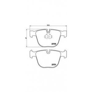 Комплект тормозных колодок, дисковый тормоз p06026 brembo - BMW 7 (E65, E66) седан 745 i,Li