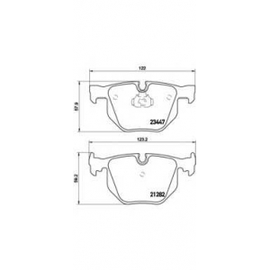 Комплект тормозных колодок, дисковый тормоз p06029 brembo - BMW 7 (E65, E66) седан 735 i,Li