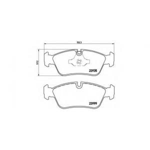Комплект тормозных колодок, дисковый тормоз p06035 brembo - BMW 1 (E81, E87) Наклонная задняя часть 120 i