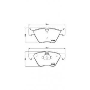 Комплект тормозных колодок, дисковый тормоз p06036 brembo - BMW 3 (E90) седан 320 i