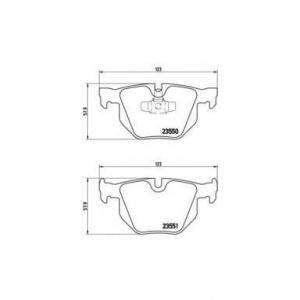 Комплект тормозных колодок, дисковый тормоз p06039 brembo - BMW 3 (E90) седан 330 i