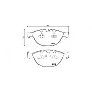 BREMBO P06047 Тормозные колодки дисковые