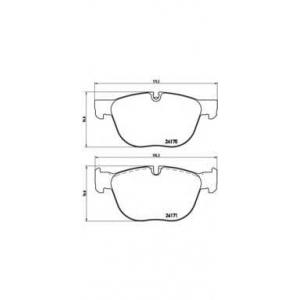 p06049 brembo Комплект тормозных колодок, дисковый тормоз BMW X5 вездеход закрытый xDrive 30 d
