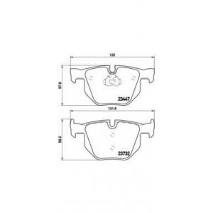 Комплект тормозных колодок, дисковый тормоз p06056 brembo - BMW X5 (E70) вездеход закрытый xDrive 30 d