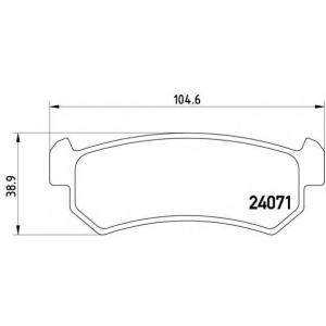 p10001 brembo Комплект тормозных колодок, дисковый тормоз CHEVROLET NUBIRA седан 1.4