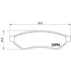 Комплект тормозных колодок, дисковый тормоз p10008 brembo - DAEWOO EVANDA (KLAL) седан 2.0