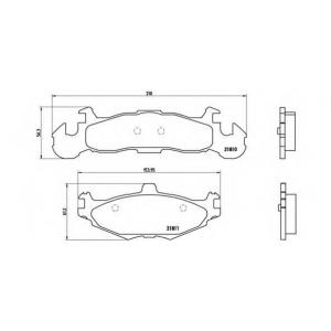 BREMBO P 11 001 Комплект тормозных колодок, дисковый тормоз Крайслер Le