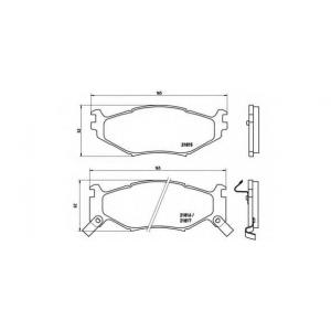 BREMBO P 11 007 Комплект тормозных колодок, дисковый тормоз Крайслер Le