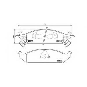 BREMBO P 11 011 Комплект тормозных колодок, дисковый тормоз Додж Стратус