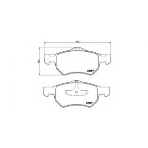BREMBO P11013 Тормозные колодки дисковые