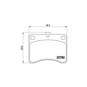BREMBO P 16 003 Комплект тормозных колодок, дисковый тормоз Дайхатсу